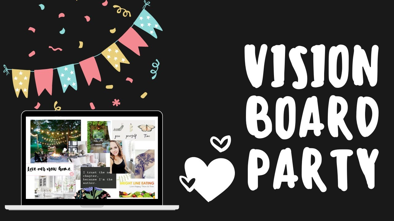 New Year's Eve Vision Board Party! (with Tips on Creating Your Own Vision Board)